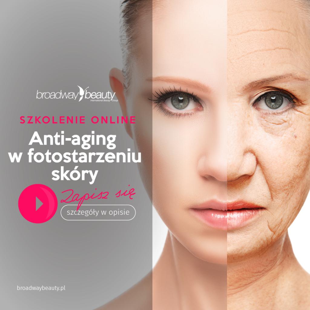 Anti-aging w fotostarzeniu skóry - szkolenie internetowe